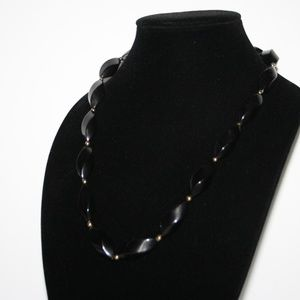 Vintage black and gold Trifari Necklace